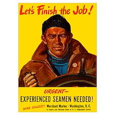 Digitally restored vector war propaganda poster. L Poster