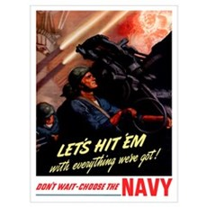 Digitally restored vector war propaganda poster. L Canvas Art