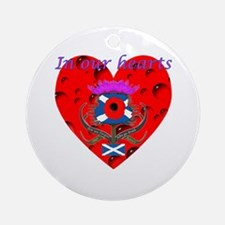 In our hearts military heros Ornament (Round)