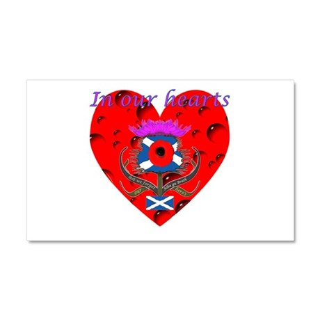In our hearts military heros Car Magnet 20 x 12