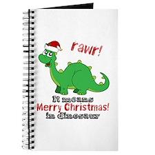 Dinosaur Christmas Journal