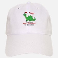 Dinosaur Christmas Baseball Baseball Cap