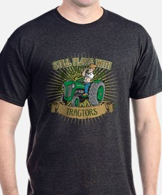 Still Plays with Green Tractors T-Shirt