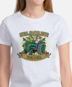 Still Plays with Green Tractors Women's T-Shirt