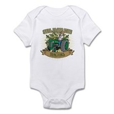 Still Plays with Green Tractors Infant Bodysuit
