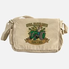 Still Plays with Green Tractors Messenger Bag