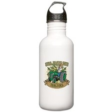 Still Plays with Green Tractors Water Bottle
