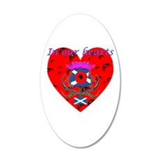 In our hearts military heros Wall Decal