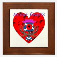 In our hearts military heros Framed Tile