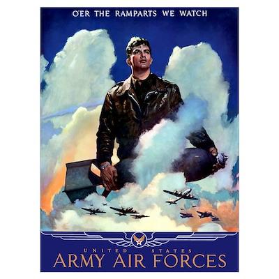 Digitally restored vector war propaganda poster. O Poster