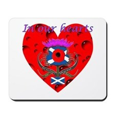 In our hearts military heros Mousepad