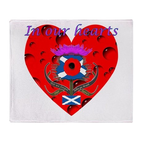 In our hearts military heros Throw Blanket