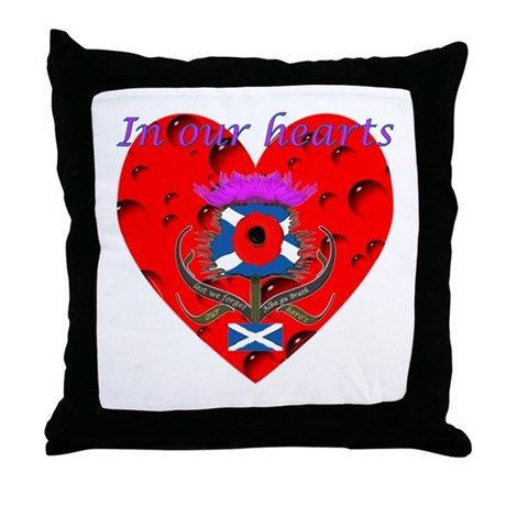 In our hearts military heros Throw Pillow