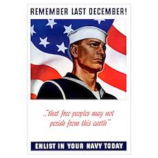 Digitally restored vector war propaganda poster. R Poster