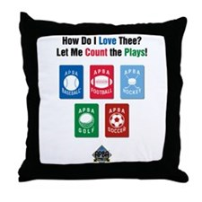 Count the Plays Throw Pillow