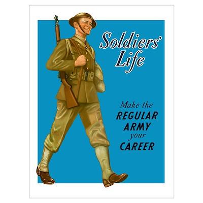 Digitally restored vector war propaganda poster. S Poster