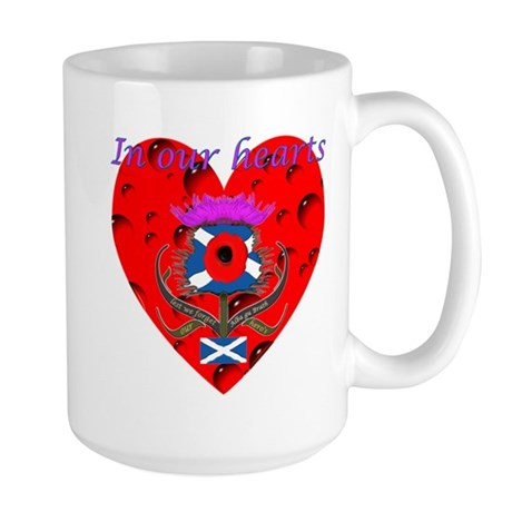 In our hearts military heros Large Mug