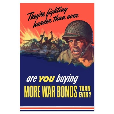 Digitally restored vector war propaganda poster. T Framed Print