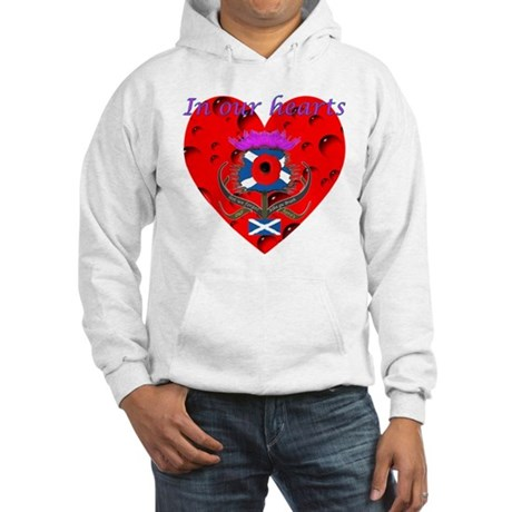 In our hearts military heros Hooded Sweatshirt