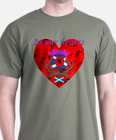 In our hearts military heros T-Shirt
