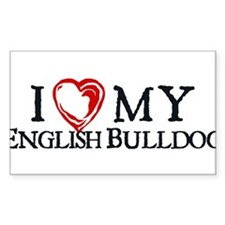 I Heart My English Bulldog Decal