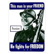Digitally restored vector war propaganda poster. T Poster