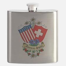 American Swiss Crest Flask