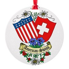 American Swiss Crest Ornament