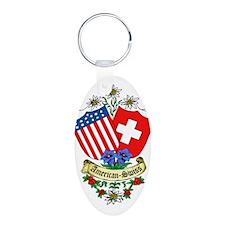 American Swiss Crest Keychains
