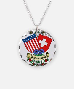 American Swiss Crest Necklace