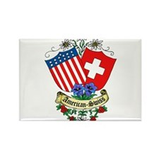 American Swiss Crest Rectangle Magnet (100 pack)