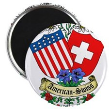 American Swiss Crest Magnet