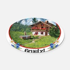 swiss gruetze Oval Car Magnet