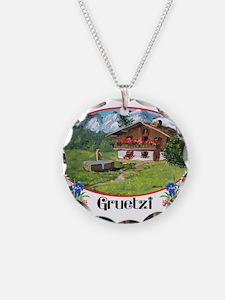 swiss gruetze Necklace Circle Charm