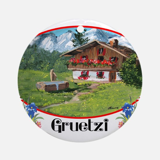 swiss gruetze Ornament (Round)