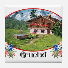 swiss gruetze Tile Coaster