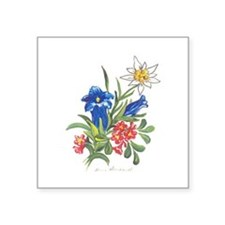 "alpine-flowers3.jpg Square Sticker 3"" x 3"""