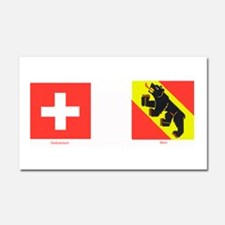 Swiss Cantons Car Magnet 20 x 12