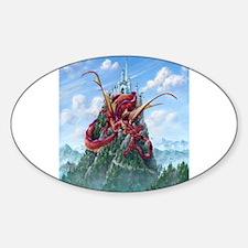 Sleeping Dragon Sticker (Oval)
