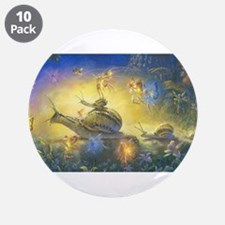 "Fairy Snail Parade 3.5"" Button (10 pack)"