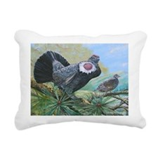 blue grouse Rectangular Canvas Pillow