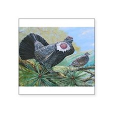"""blue grouse Square Sticker 3"""" x 3"""""""