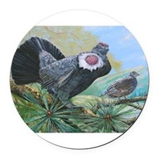 blue grouse Round Car Magnet