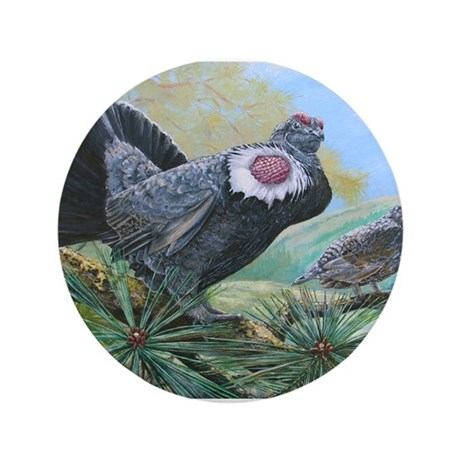 "blue grouse 3.5"" Button (100 pack)"