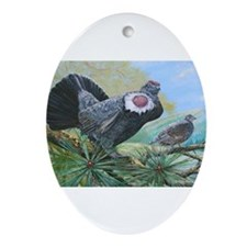 blue grouse Ornament (Oval)