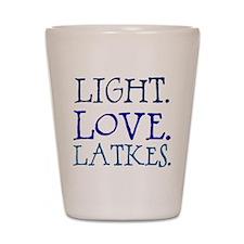 Light. Love. Latkes. Shot Glass