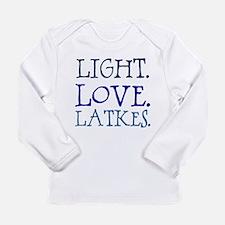 Light. Love. Latkes. Long Sleeve Infant T-Shirt