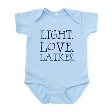 Light. Love. Latkes. Infant Bodysuit