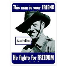 Digitally restored vector war propaganda poster.Th Poster