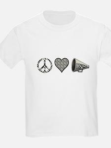 Peace, Love Cheer zebra print T-Shirt